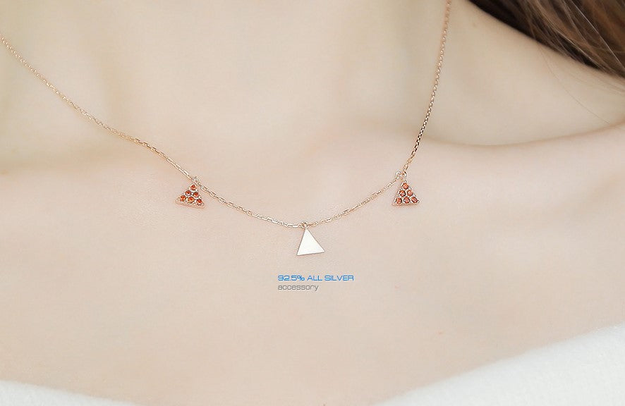 Soo & Soo Triple Triangle Pendants Necklace