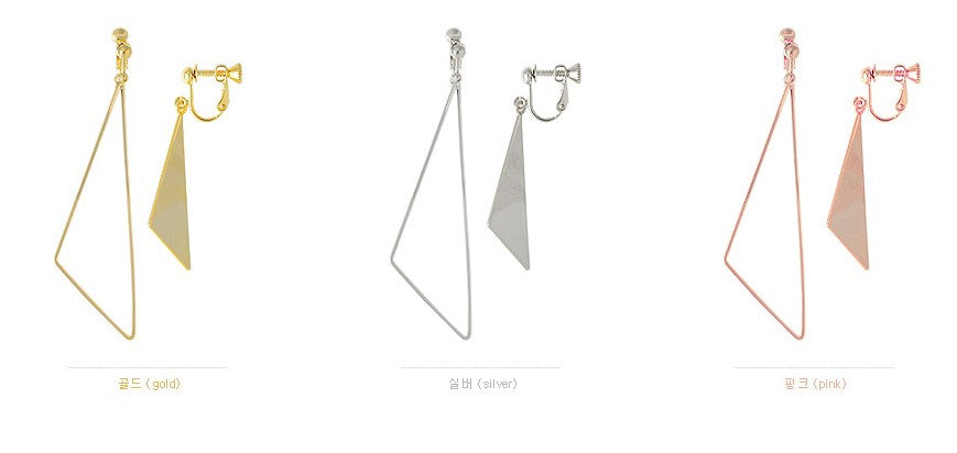 Soo & Soo Mismatched Triangle Clip-On Earrings