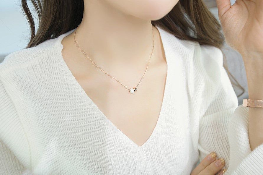 Soo & Soo Pearl Bead Pendant Chain Necklace