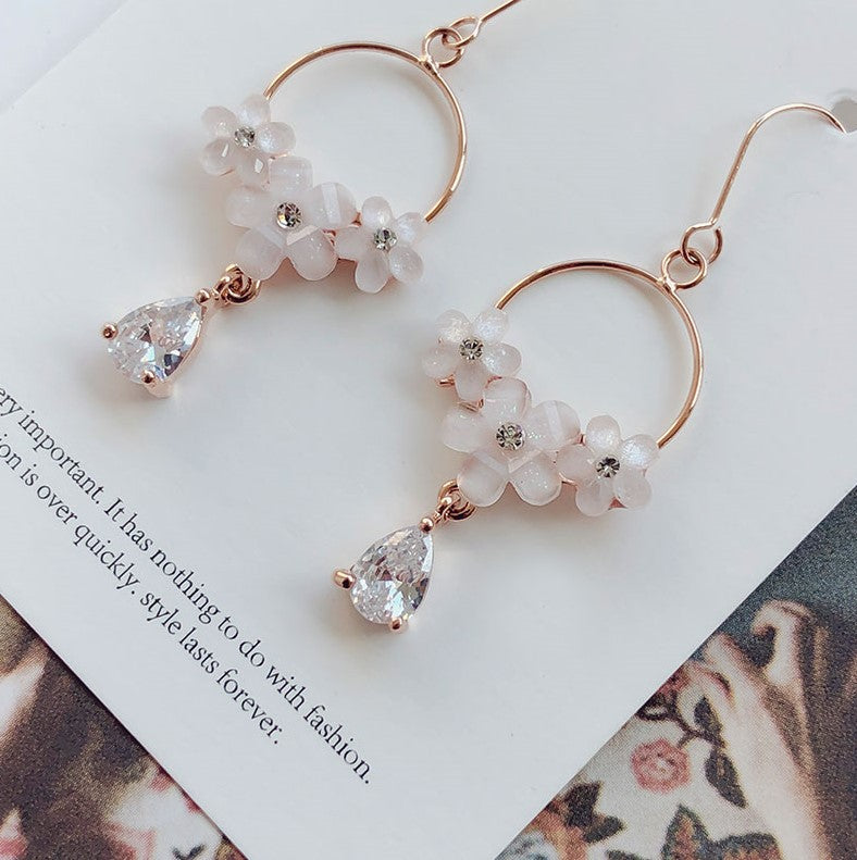 Soo & Soo Honey Flower Drop Earrings