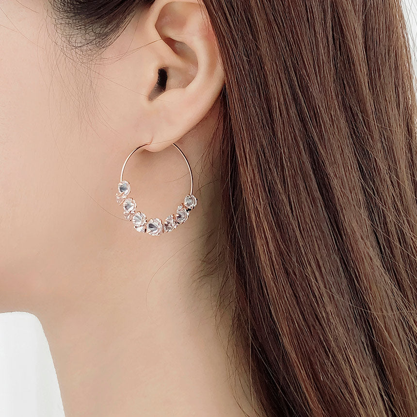 Soo & Soo Andre Crystal Hoop Earrings
