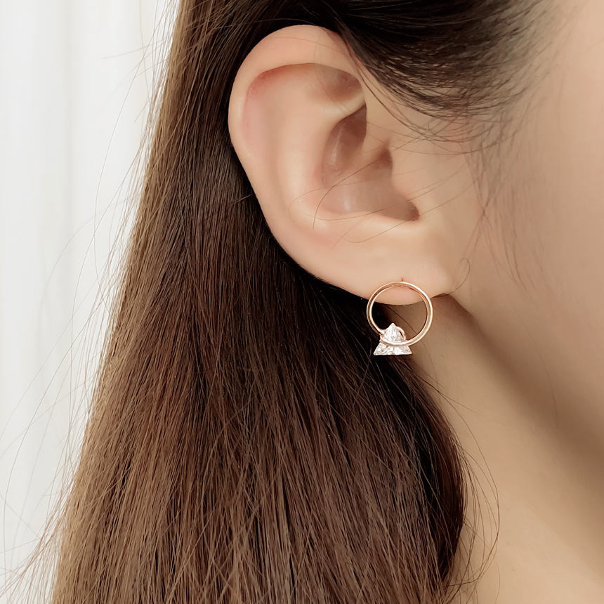 Soo & Soo Judy's Circle Crystal Earrings