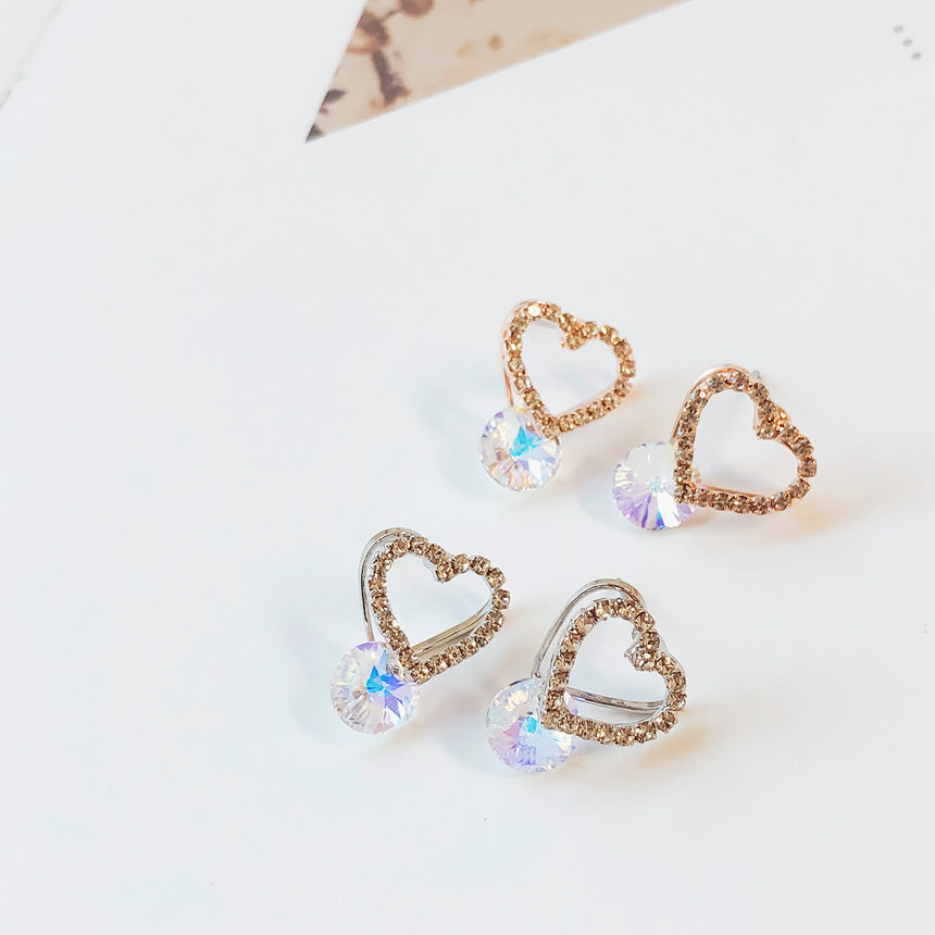 Soo & Soo Heart Bomb Swarovski Earrings
