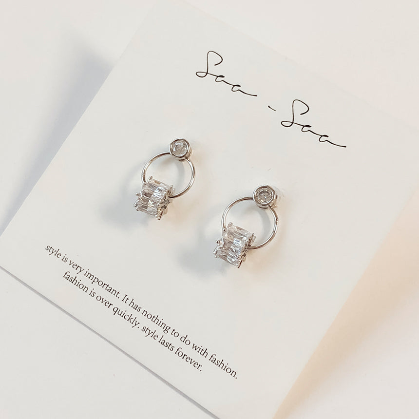 Soo & Soo Crystal Roller Circle Earrings