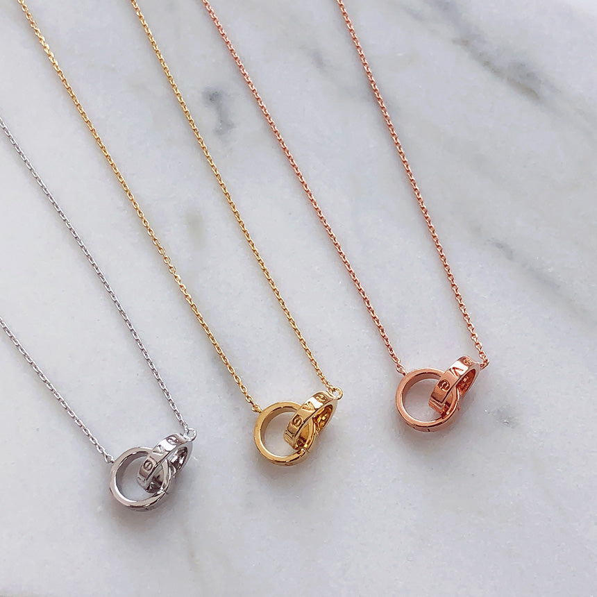 Soo & Soo Double Ring Chain Necklace
