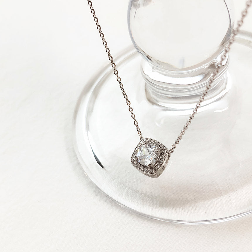 Soo & Soo Square Cubic Chain Necklace