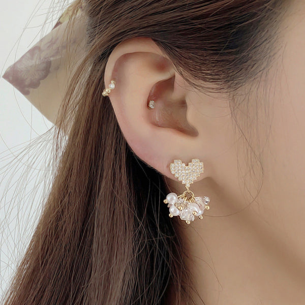 Soo & Soo Sophia Pearl Cluster Earrings