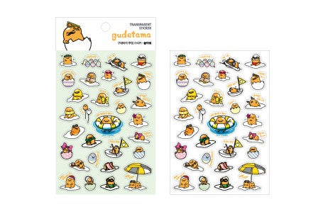 Gudetama Transparent Sticker - Play