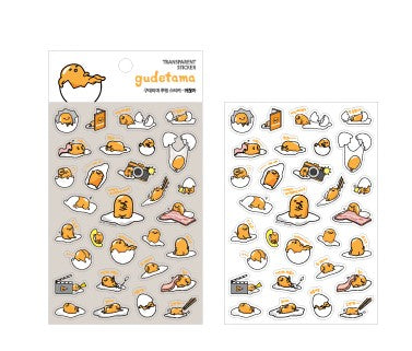 Gudetama Transparent Sticker - Lazy