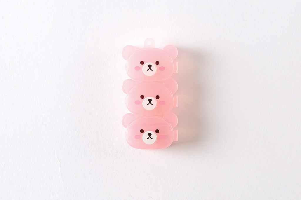 [DMV ONLY] Mini Bear Face Container - Pink 25012942