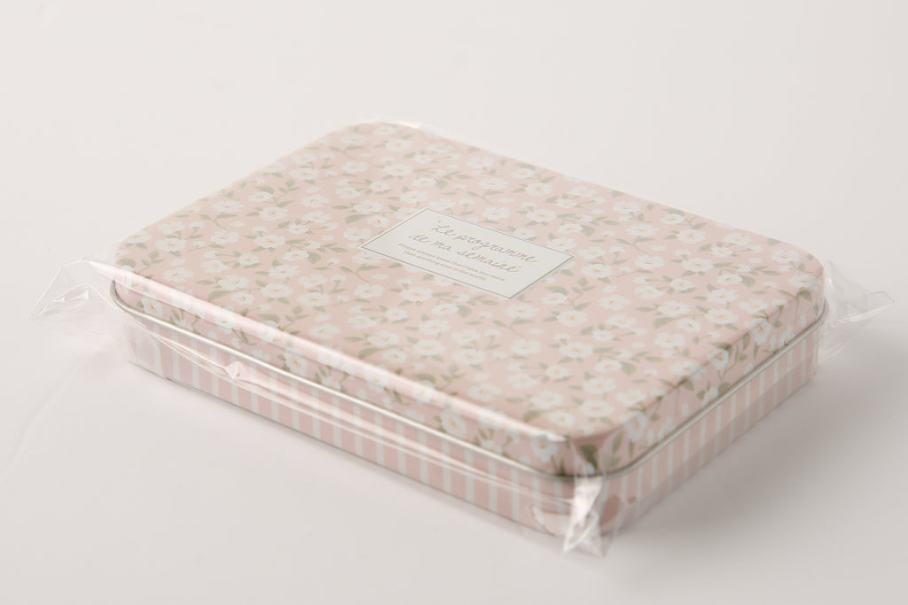 [DMV ONLY] MD Pink Flower Graphic Tin Multipurpose Case  26014938