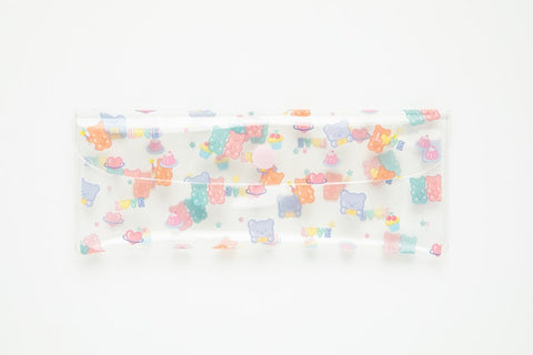 [DMV Only] Jelly Bear Graphic Clear Pencil Case 17003934