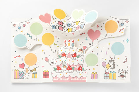 [DMV ONLY] Large Birthday Party Pop Up Card 01004376