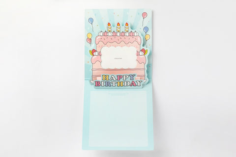 [DMV ONLY] Large Birthday Cake Pop Up Card 01004378