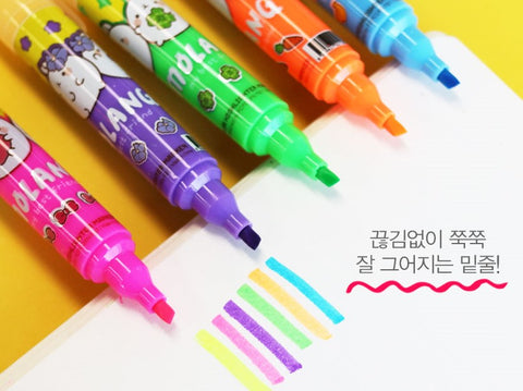 Molang Twin Color Big Highlighter