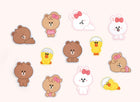 Line Friends[B&F] Brown Big Mini Sticker [Sleeping Ver.]