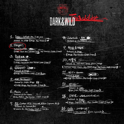 K-pop CD BTS 'Dark & Wild'
