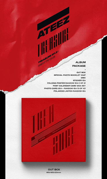 Kpop CD Ateez 'Treasure Ep.2: Zero To One'