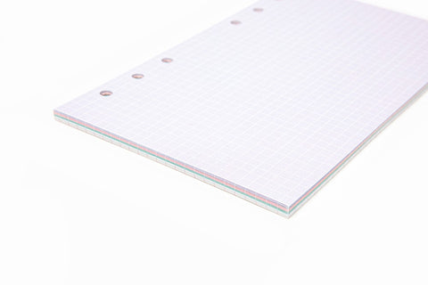 [DMV Only] A6 Grid Multi Color Refill Paper Set 04009571