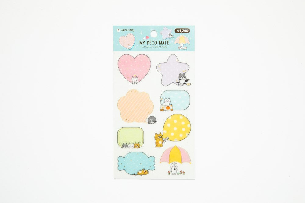 [DMV ONLY] My Deco Mate Lovely Cat Pattern Sticker Set 04009665