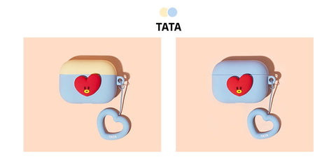 BT21 Royche Airpod  Pro Tata Heart Ring Duo Case