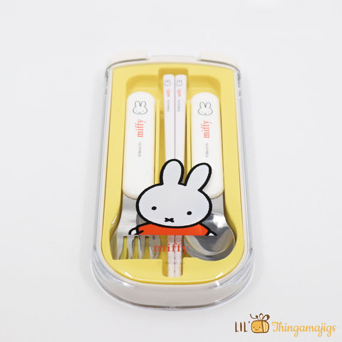 Mercis bv Miffy Spoon, Fork and Chopsticks Set