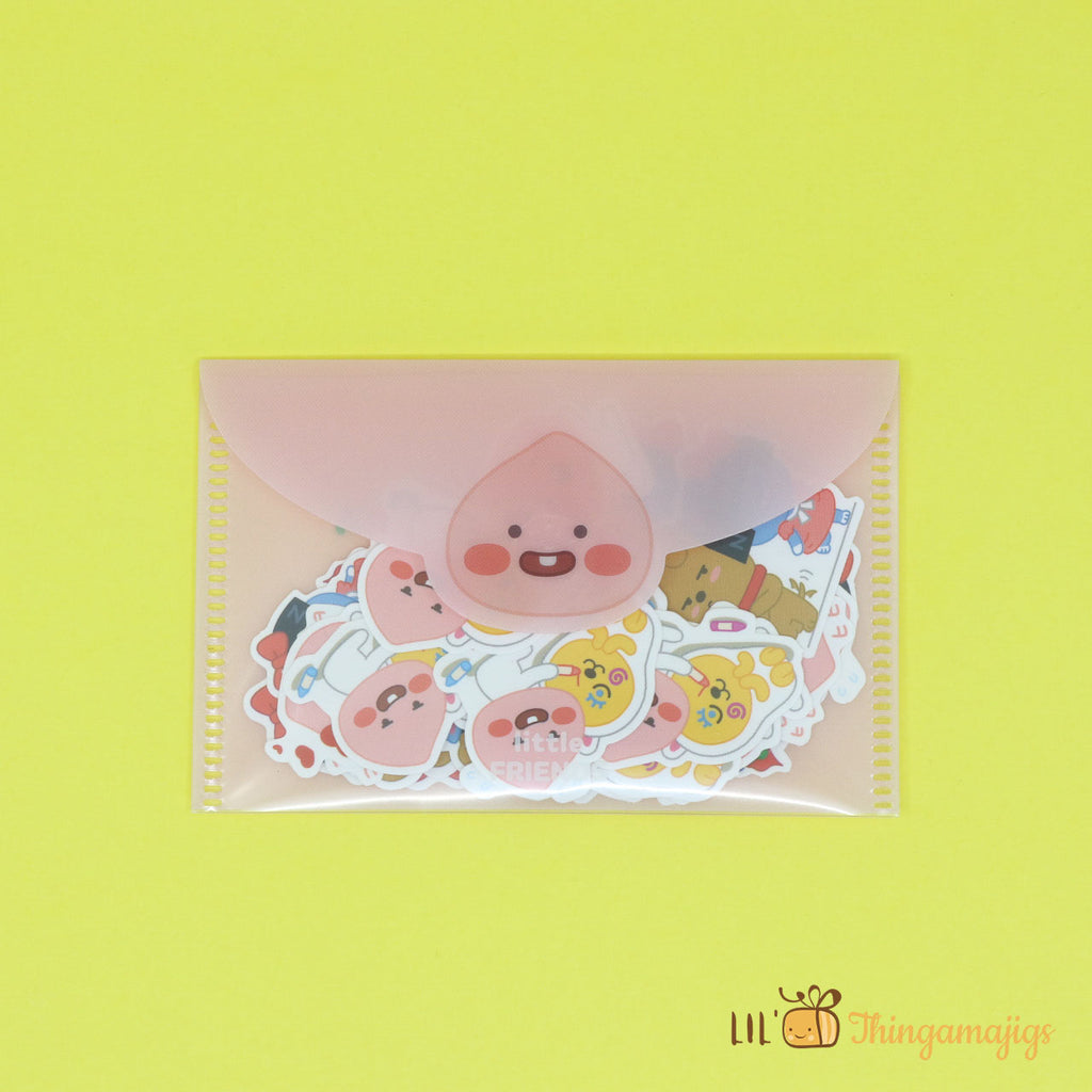 Kakao Little Friends Shaped Stickers (8 designs, 40 pcs)