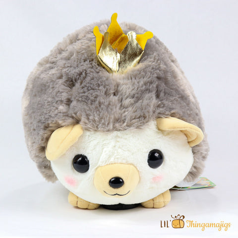 "Amuse Hedgehog Plush 16"" (Gray)"