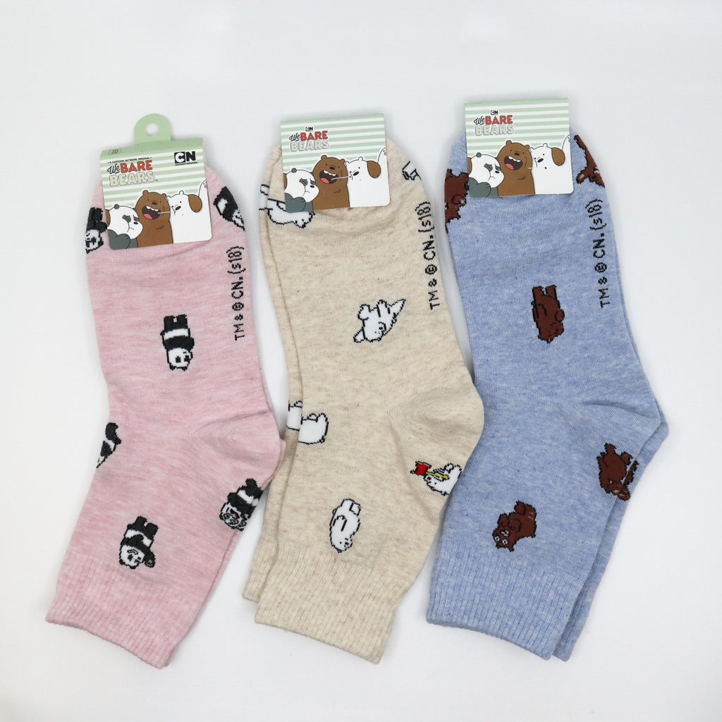 CN We Bare Bears Ankle Socks