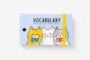 [DMV ONLY] Cat friends mini vocabulary notebook 04010145