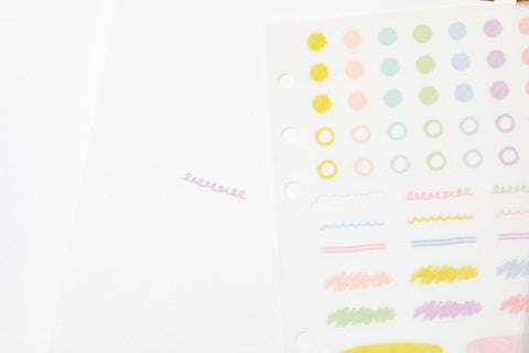 [DMV only] Color Pencil Diary Decoration Sticker Set 04010089