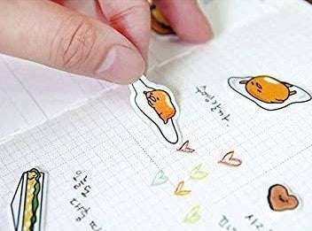 "Gudetama Epoxy Sticker ""Snack"""
