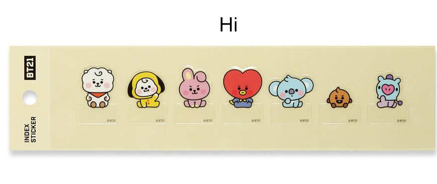 BT21 Index Sticker - [Hi Ver.]