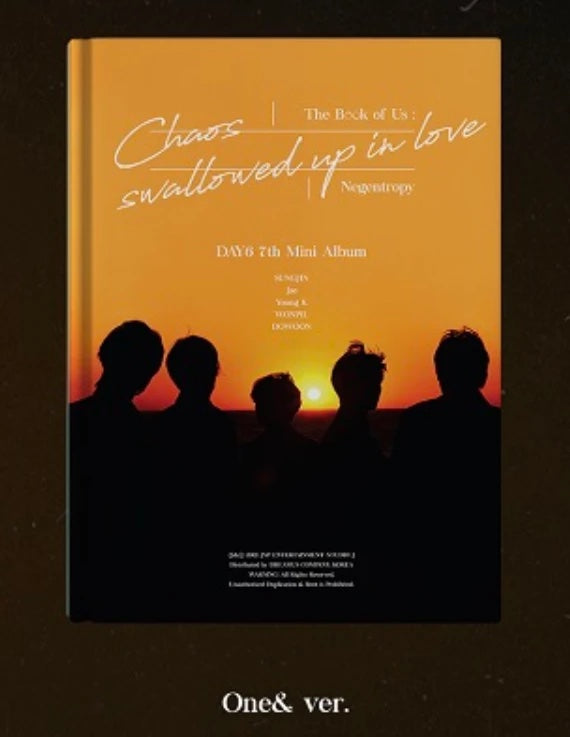 K-Pop CD Day6 7th Mini Album 'The Book Of Us: Negentropy Chaos Swallowed Up In Love'