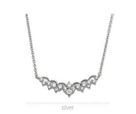 Soo & Soo Wide Impact Pendant Silver Chain Necklace