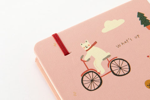[DMV only] Artbox Bicycle Bear Pink Notebook 03008081