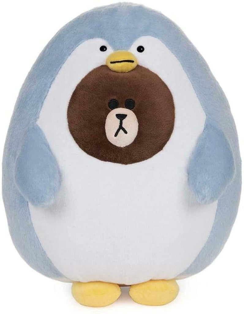 "Gund Line Friends Penguin Brown 12"" Plush"