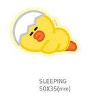 Line Friends[B&F] Sally Big Mini Sticker [Sleeping Ver.]