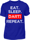 Eat. Sleep. Dart! Repeat. T-Shirt - Kreisligahelden.de