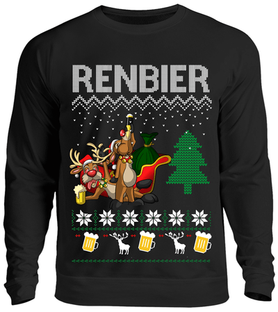 Renbier Ugly Christmas Sweater Sweater - Kreisligahelden.de