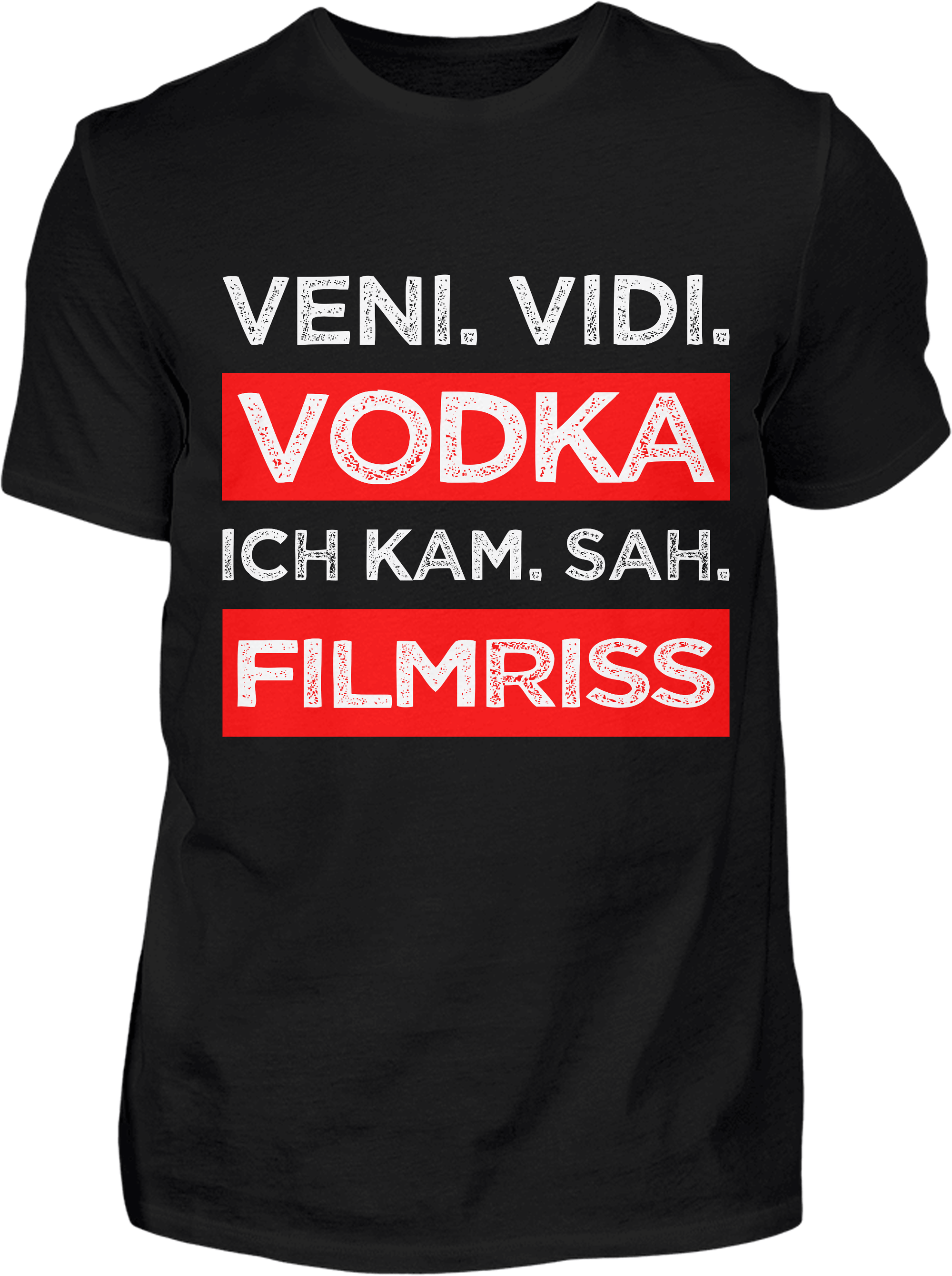 Vodka Filmriss T-Shirt - Kreisligahelden.de