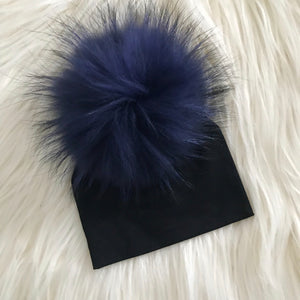 Black Hat Navy Pompom - The Gifted Baby NY