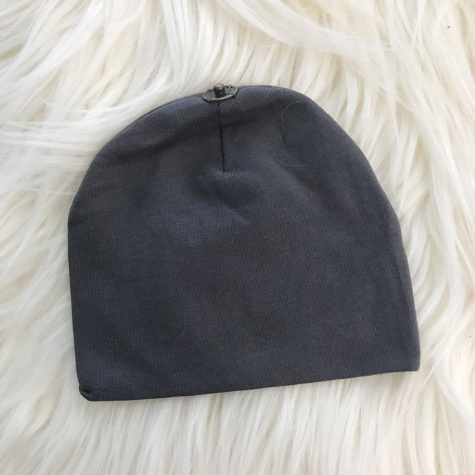 Dark Gray Hat With Snap - The Gifted Baby NY