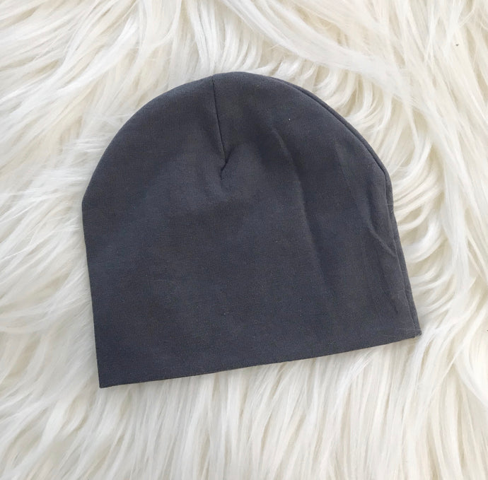 Dark Gray Hat Without Snap - The Gifted Baby NY