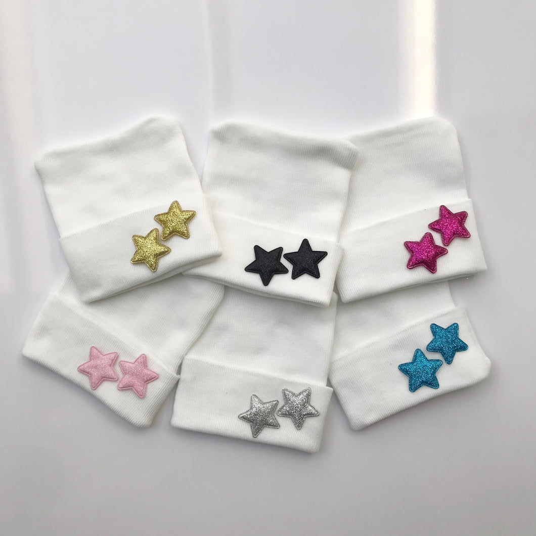 Glitter Stars Hospital Hat - The Gifted Baby NY