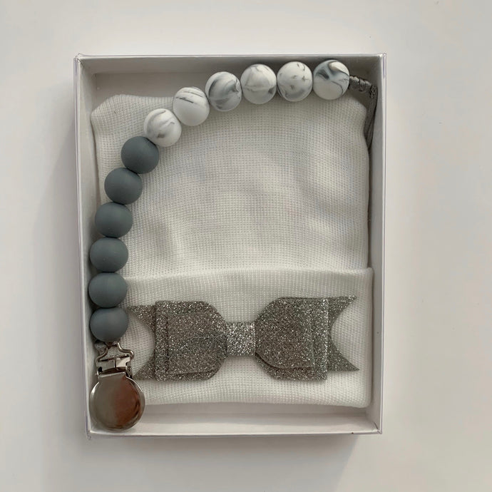 Gray Marble Glitter Gift Set - The Gifted Baby NY