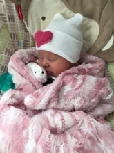 Load image into Gallery viewer, Medium Furry Heart Hospital Hat - The Gifted Baby NY