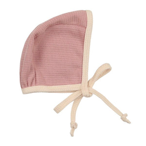 Mauve Waffle Knit Bonnet - The Gifted Baby NY