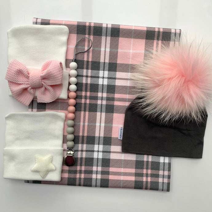 Pink Plaid Swaddle