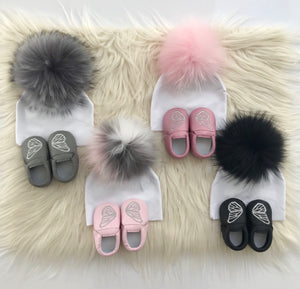 Gray Butterfly Moccs - The Gifted Baby NY
